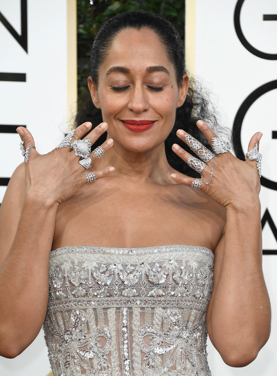 Tracee Ellis Ross at the 2017 Golden Globe Awards. Photo: Frazer Harrison/Getty Images