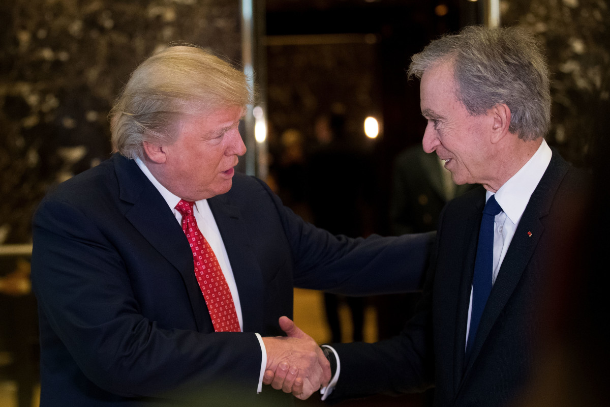 Donald Trump meets with LVMH CEO Bernard Arnault at Trump Tower. Photo: Drew Angerer/Getty Images