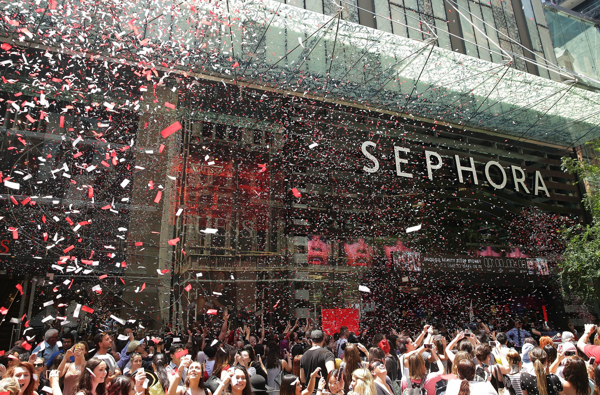 The opening of a Sephora store in Sydney, Australia. Photo: Mark Metcalfe/Getty Images
