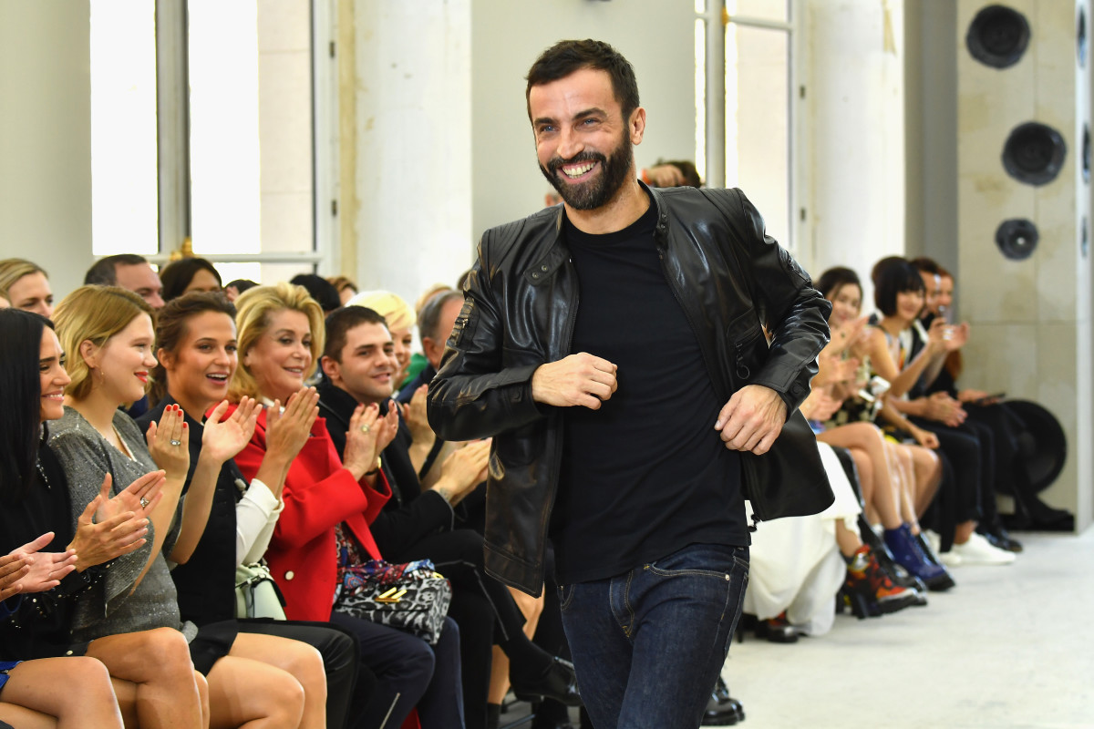 Nicolas Ghesquiere at the Louis Vuitton spring 2017 show. Photo: Pascal Le Segretain/Getty Images