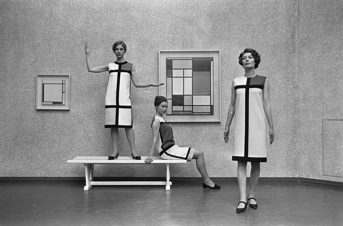 Yves Saint Laurent's Mondrian collection. Photo: Wikipedia Commons