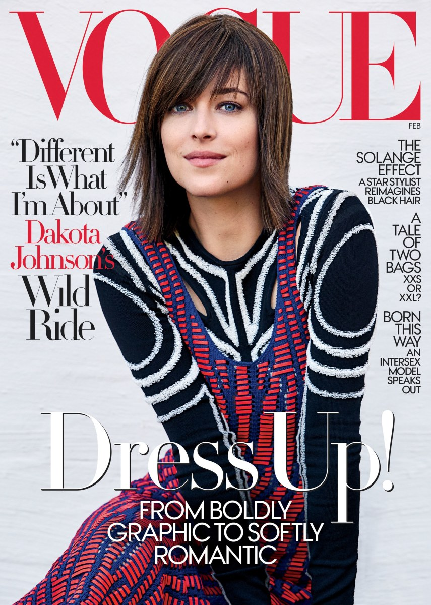 Dakota Johnson on the February cover of 'Vogue.' Photo: Patrick Demarchelier/Vogue