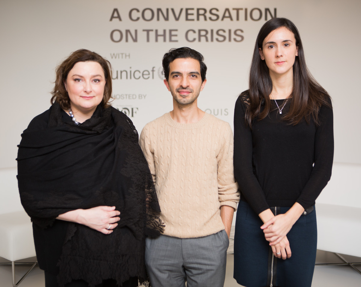 Lisa Szarkowski of UNICEF, Imran Amed of 'Business of Fashion' and Claudia Martinuzzi of Louis Vuitton.  Photo: Carl Timpone for Louis Vuitton/BFA