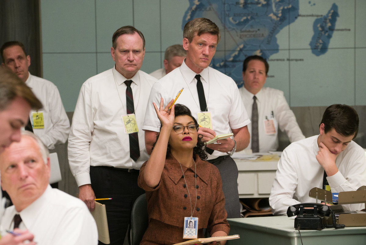 Katherine G. Johnson (Taraji P. Henson) schooling the men of NASA. Photo: Hopper Stone/20th Century Fox Film Corp.