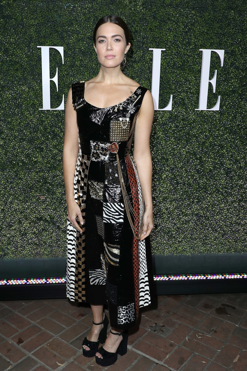 Mandy Moore at ELLE's Annual Women In Television Celebration 2017 at the Chateau Marmont in Los Angeles. Photo: Jonathan Leibson/Getty Images for ELLE