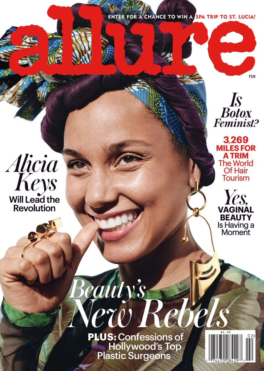Alicia Keys on Allure's February 2017 cover. Photo: Paola Kudacki/Allure