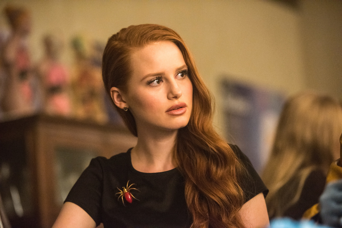 Spider pin alert! Cheryl Blossom (Madelaine Petsch). Photo: Dean Buscher/The CW