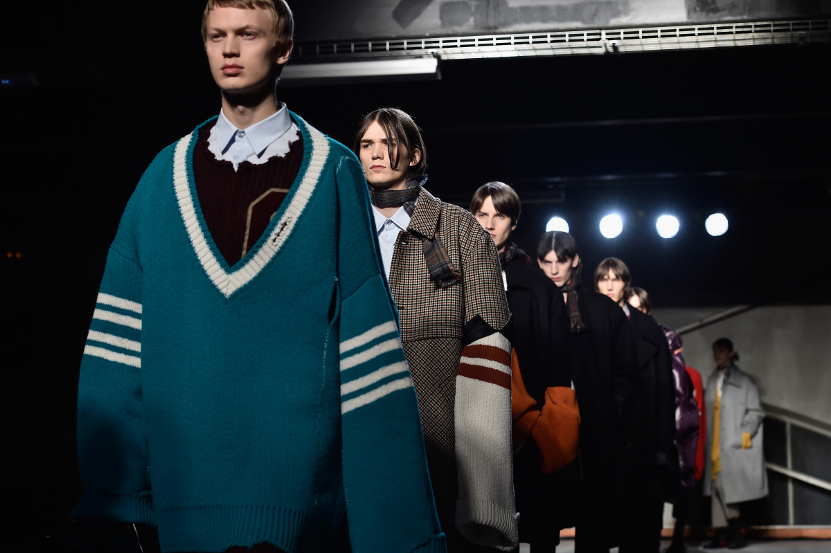 The Raf Simons F/W 2016-2017 collection. Photo: Pascal Le Segretain/Getty Images