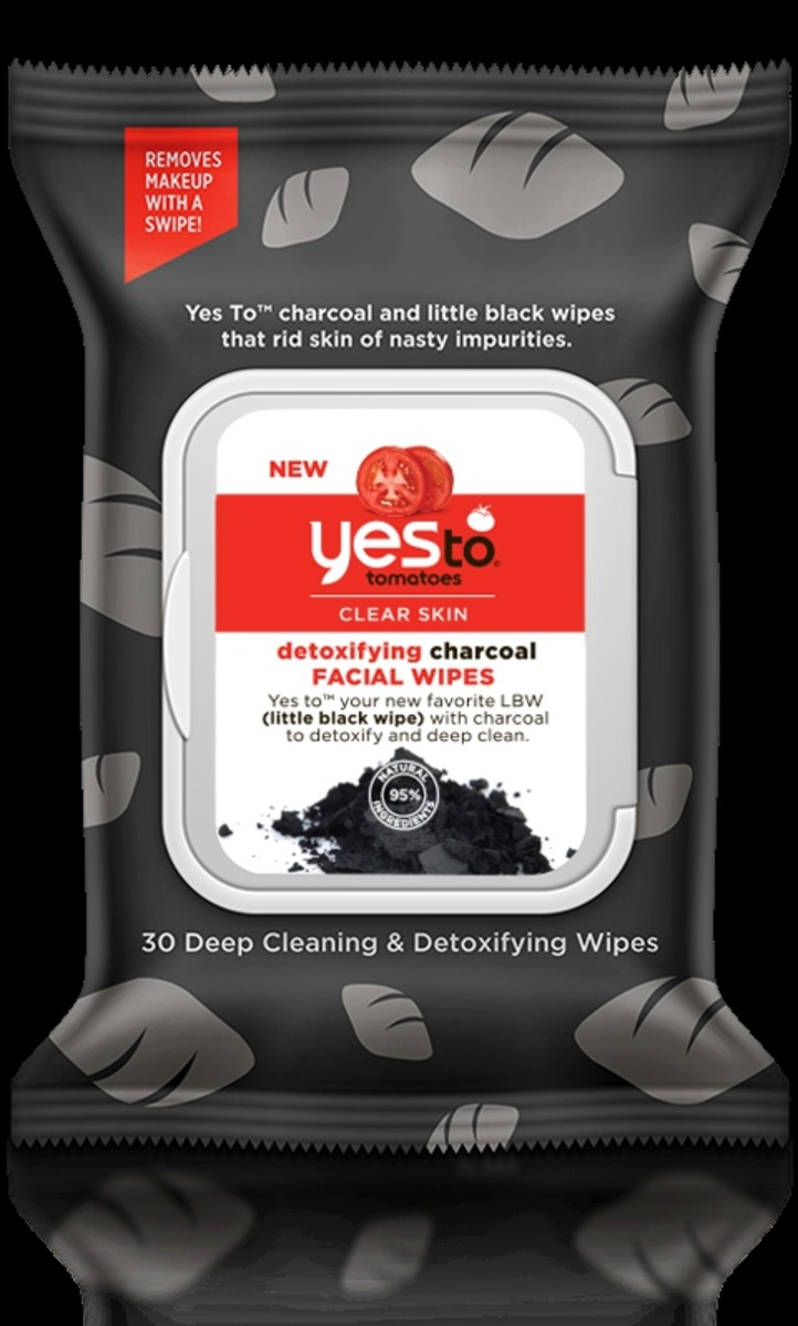 Yes to Tomatoes Clear Skin Detoxifying Charcoal Facial Wipes, $5.99, available at Ulta.com.