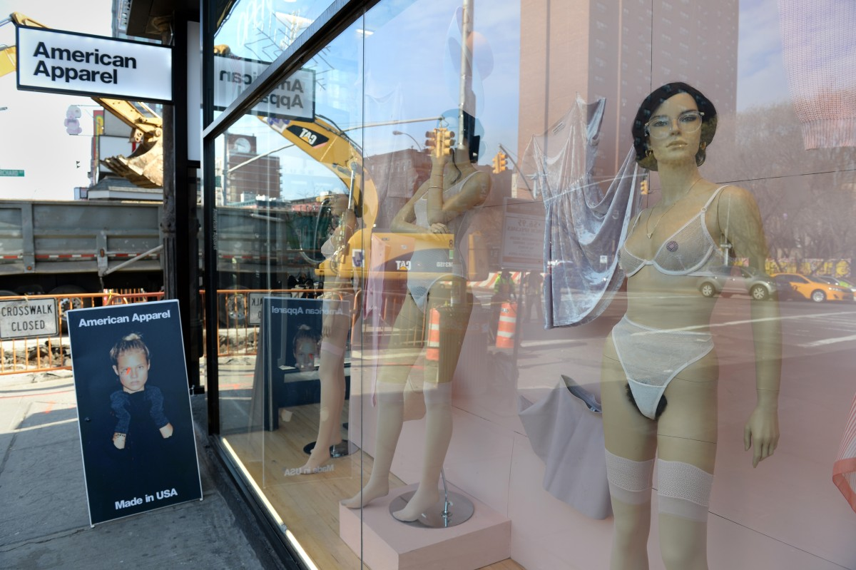 An American Apparel store on Houston Street in New York City in 2014. Photo: STAN HONDA/AFP/Getty Images