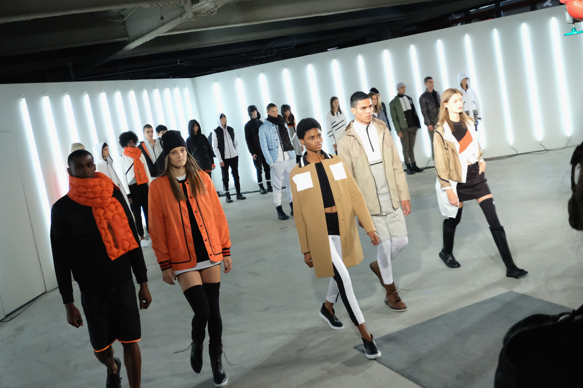 Tim Coppens and Under Armour's UAS fall 2016 runway show during New York Fashion Week. Photo: Mike Coppola/Getty Images