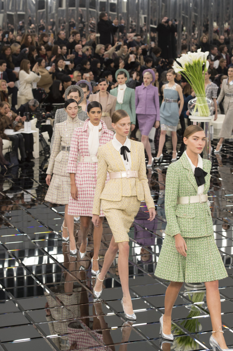 The finale of Chanel Haute Couture's spring 2017 collection. Photo: Imaxtree