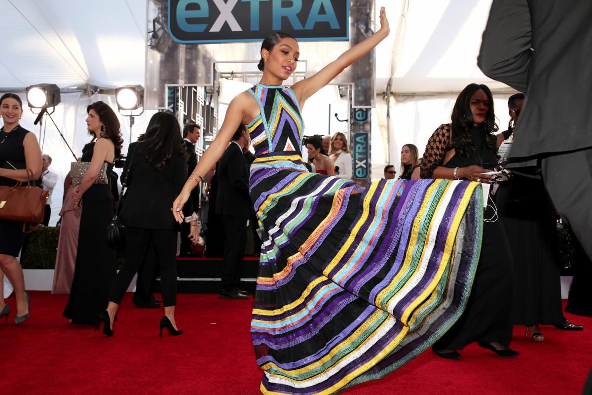 Yara Shahidi at the 2017 SAG Awards. Photo: Christopher Polk/Getty Images