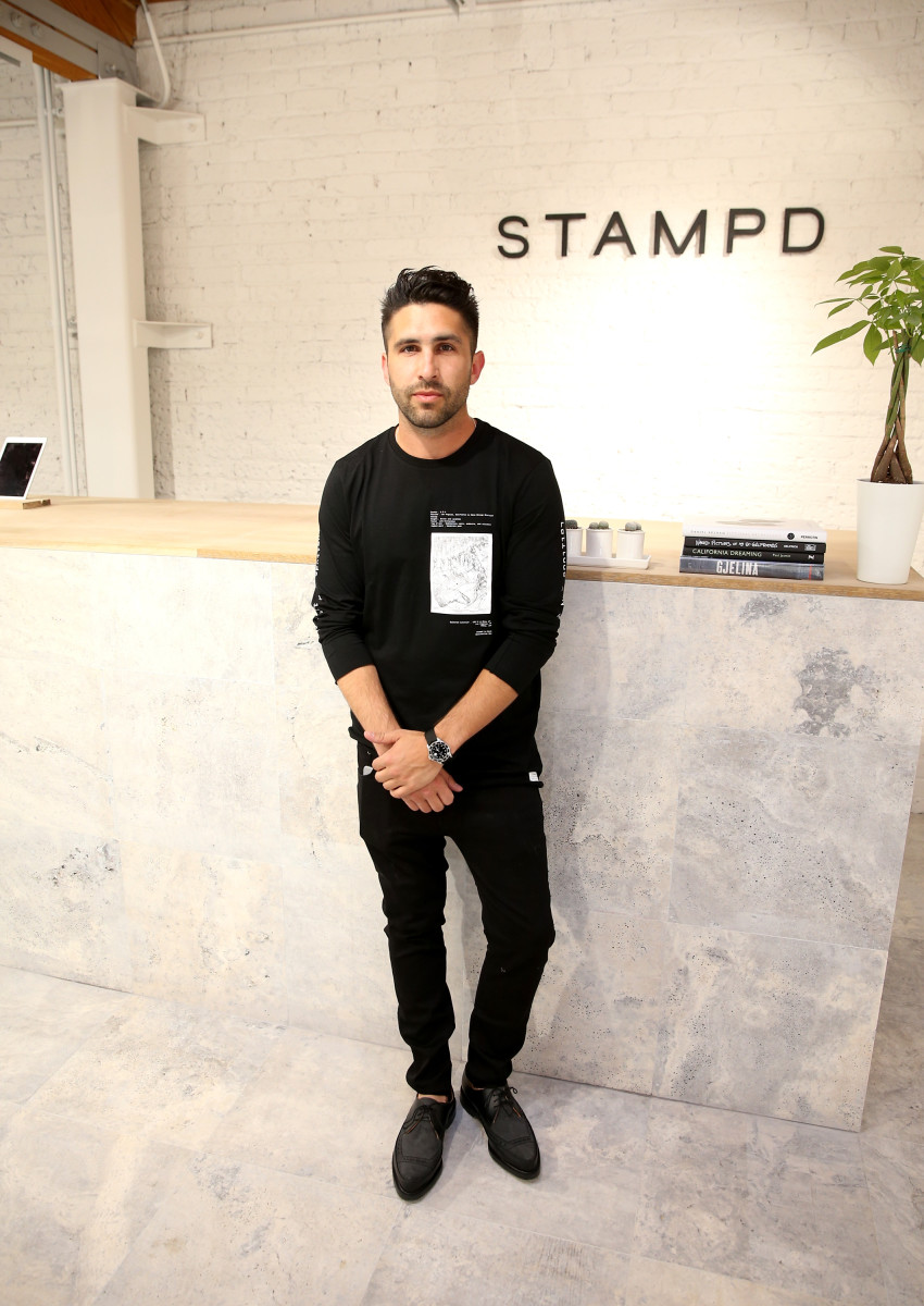 Chris Stamp atthe Stampdstore openingin Los Angeles. Photo: Jonathan Leibson/Getty Images