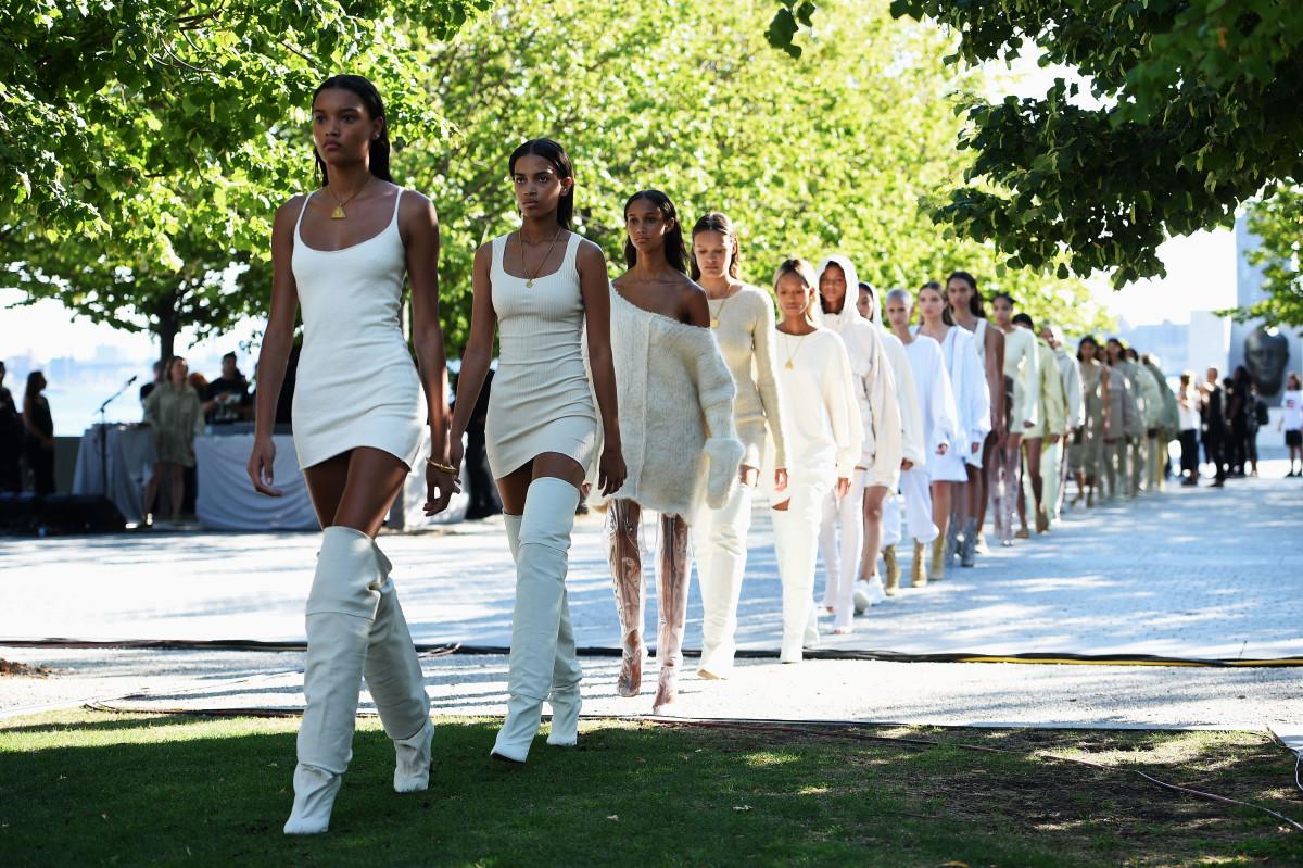 Yeezy Season 4 runway show during New York Fashion Week in September. Photo: Dimitrios Kambouris/Getty Images