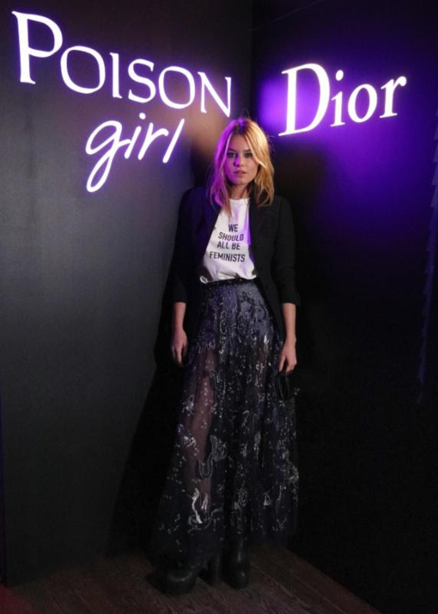 Camille Rowe at the Dior Poison Girl launch party. Photo: Courtesy of Dior