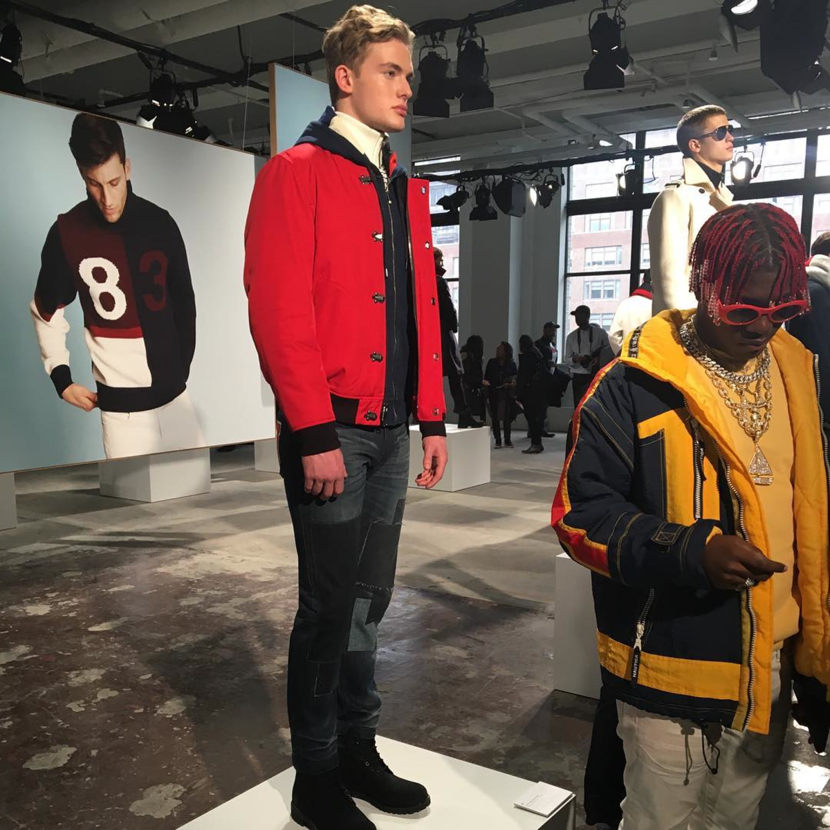 Lil Yachty at Nautica's fall 2017 presentation during New York Fashion Week: Men's. Photo: @nautica/Instagram