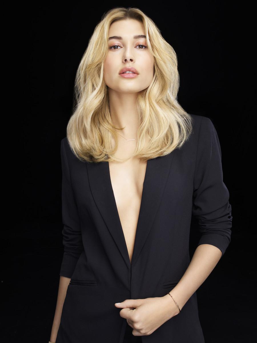 Hailey Baldwin for L'Oréal Professionnel. Photo: Courtesy of L'Oréal Professionnel