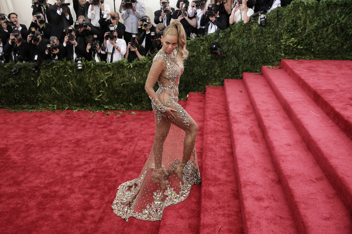 Beyoncé at the 2015 Met Gala. Photo: Neilson Barnard/Getty Images
