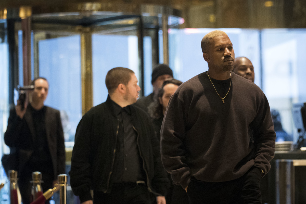 Kanye West visiting Trump Tower. Photo: Drew Angerer/Getty Images