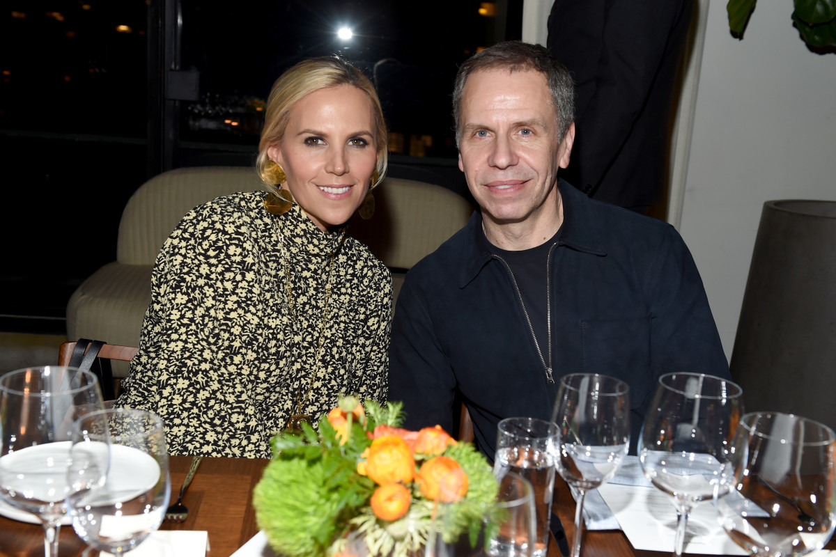 Tory Burch with Miles Socha at a dinner honoring the editor. Photo: Clint Spaulding, WWD