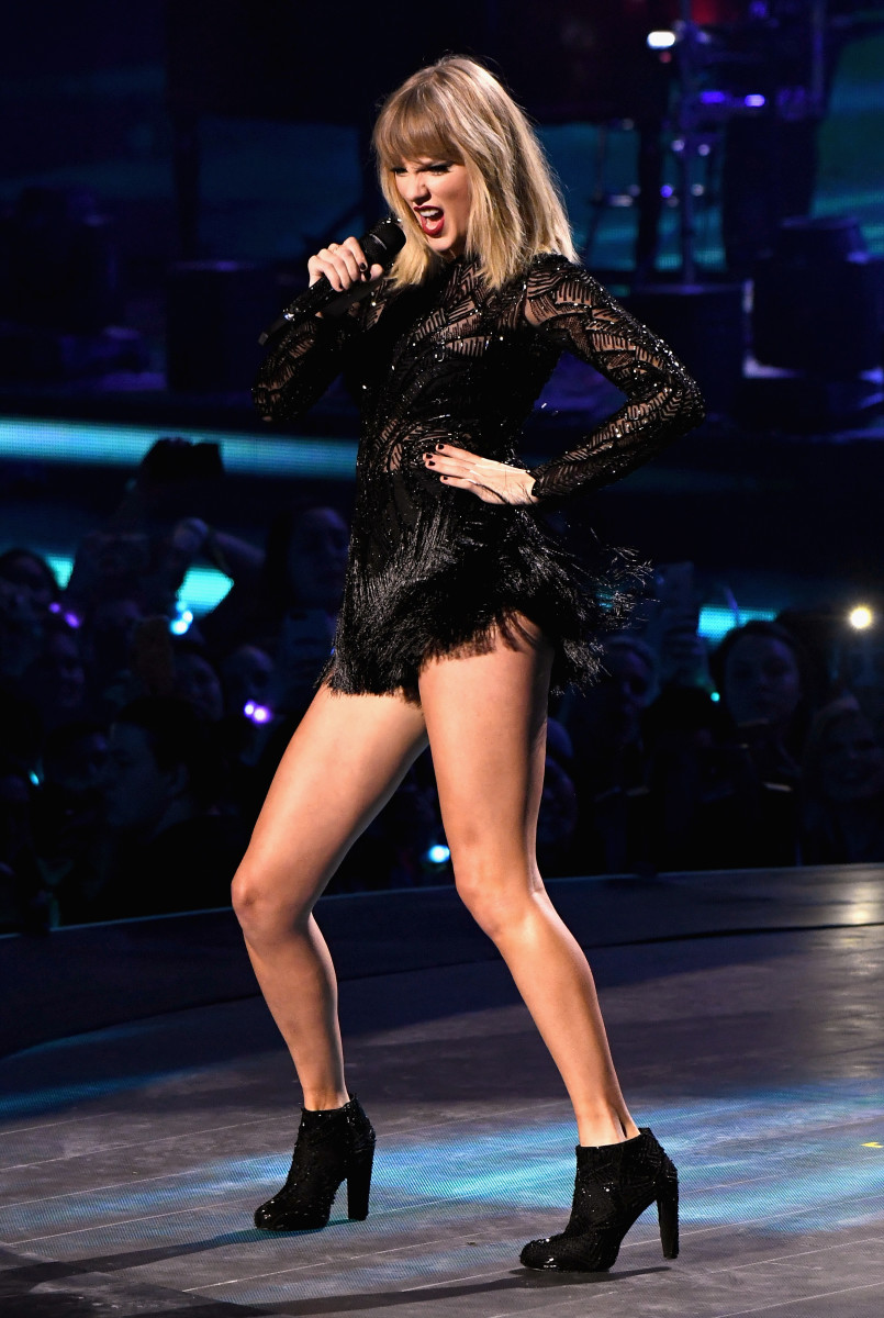 Say goodbye to sparkly fringe for a while — Taylor Swift is going on break. Photo: Larry Busacca/Getty Images