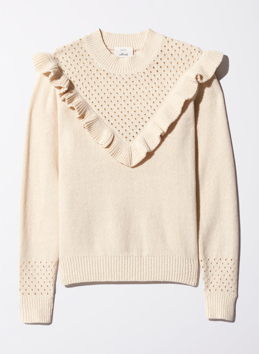 Wilfred Chaume sweater, $128, available at Aritzia.