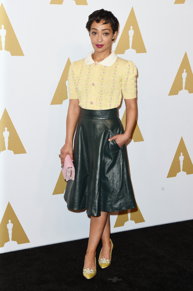 Ruth Negga in Miu Miu at the 89th Annual Academy Awards Luncheon. Photo: Kevin Winter/Getty Images