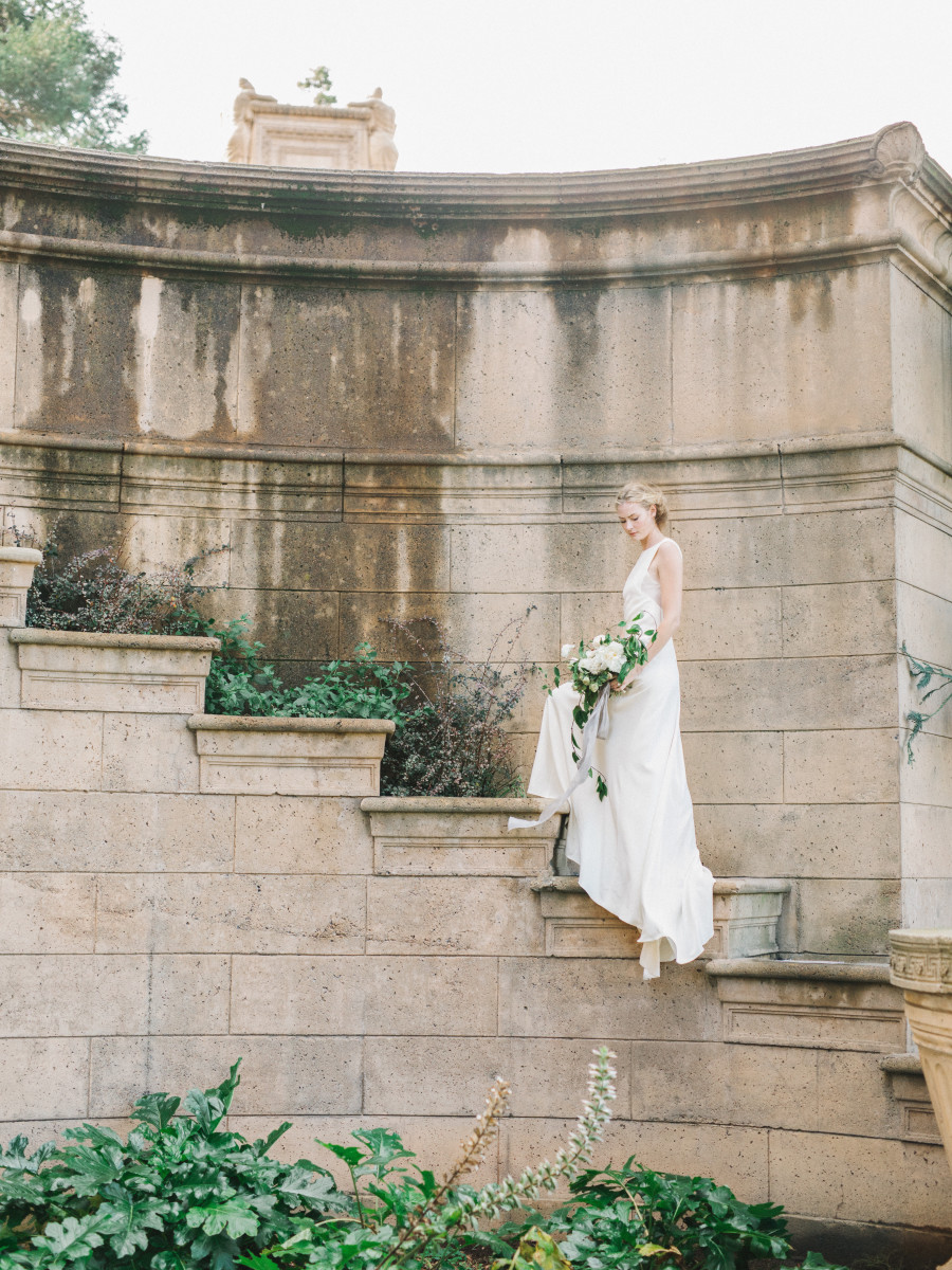 The A. Hall customizable gown from Floravere. Photo: Tenth and Grace