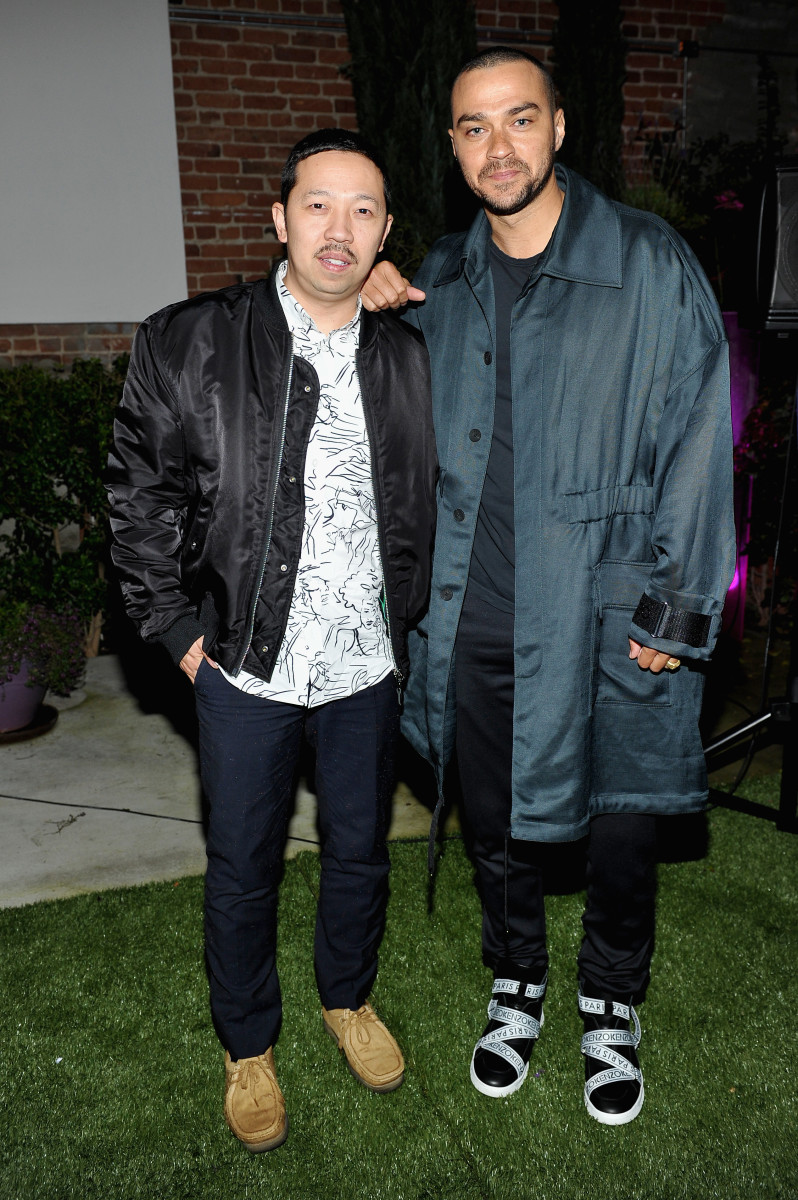 Humberto Leon and Jesse Williams. Photo: Courtesy of Kenzo