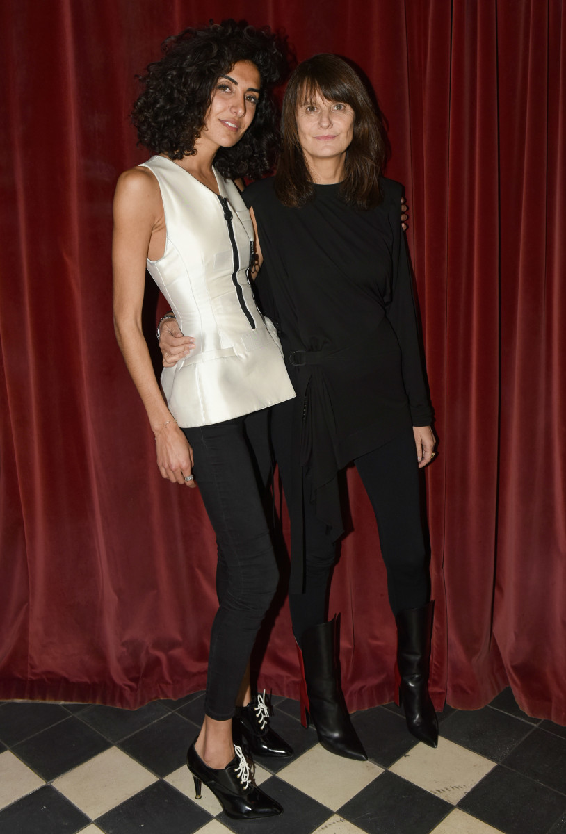 'Mastermind' publisher Brune Buonomano with Marie-Amélie Sauvé at the Gramercy Park Hotel. Photo: Courtesy