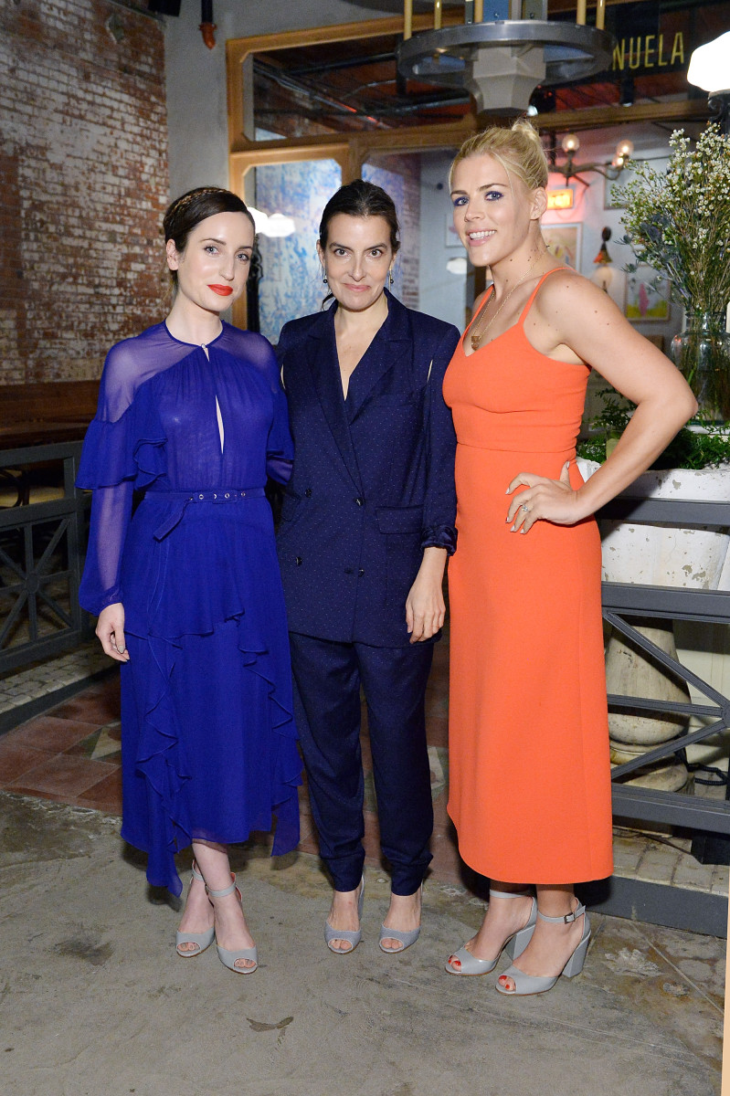 Zoe Lister-Jones, Rachel Comey and Busy Phillips at Rachel Comey's LA dinner presentation. Photo: Stefanie Keenan/Getty Images