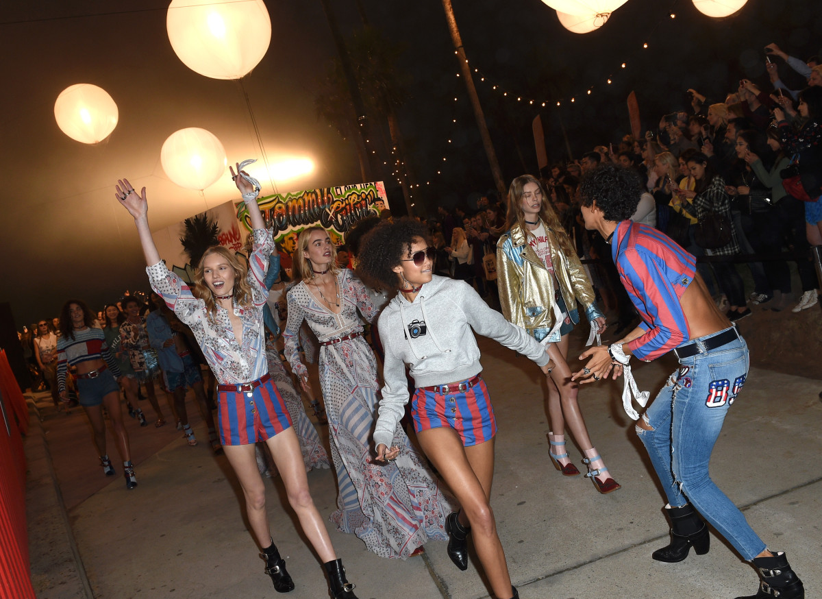 Tommy Hilfiger's Venice Beach presentation. Photo: Joshua Blanchard/Getty Images
