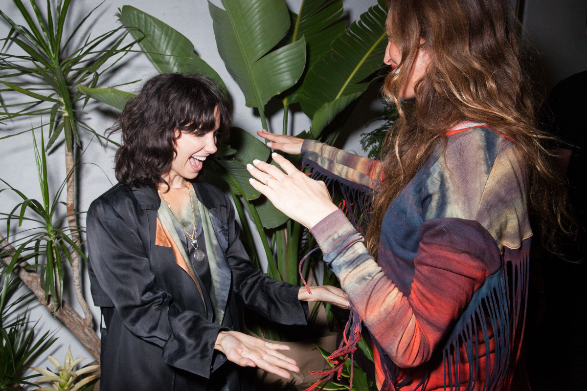 Raquel Allegra greets a guest in her West Hollywood store. Photo: courtesy of Raquel Allegra