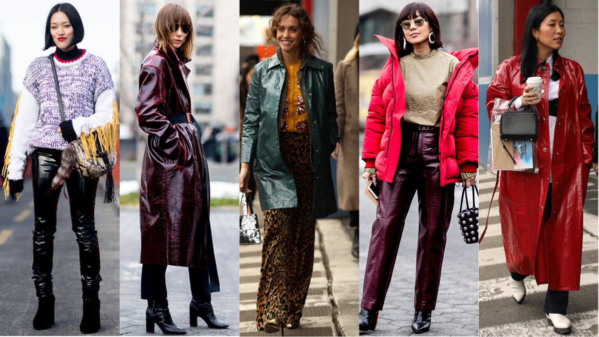 Shiny Pants and Coats Were All Over Day 7 of New York Fashion Week ... 1f9da77f88961