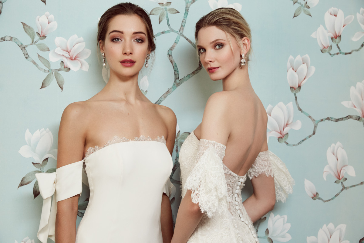 Two looks from the Sachin & Babi wedding collection. Photo: Lara Jade