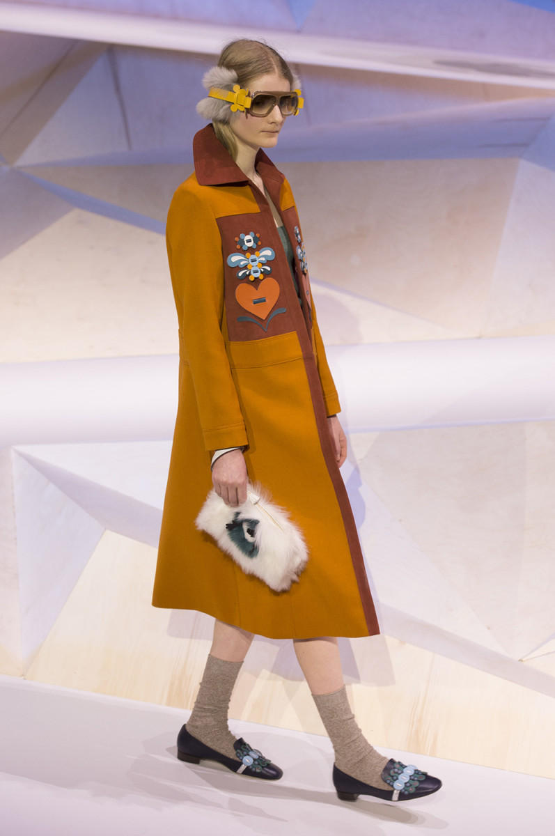 A look from Anya Hindmarch Fall 2017. Photo: Imaxtree