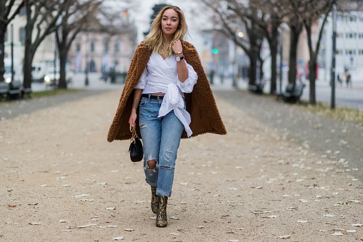 Jessi Quednau wearing Levi's in Berlin, November, 2016. Photo: Christian Vierig/Getty Images
