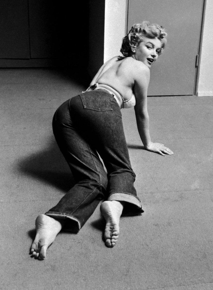 Marilyn Monroe photographed by Philippe Halsman,1952. Imagecourtesy of Levi's®