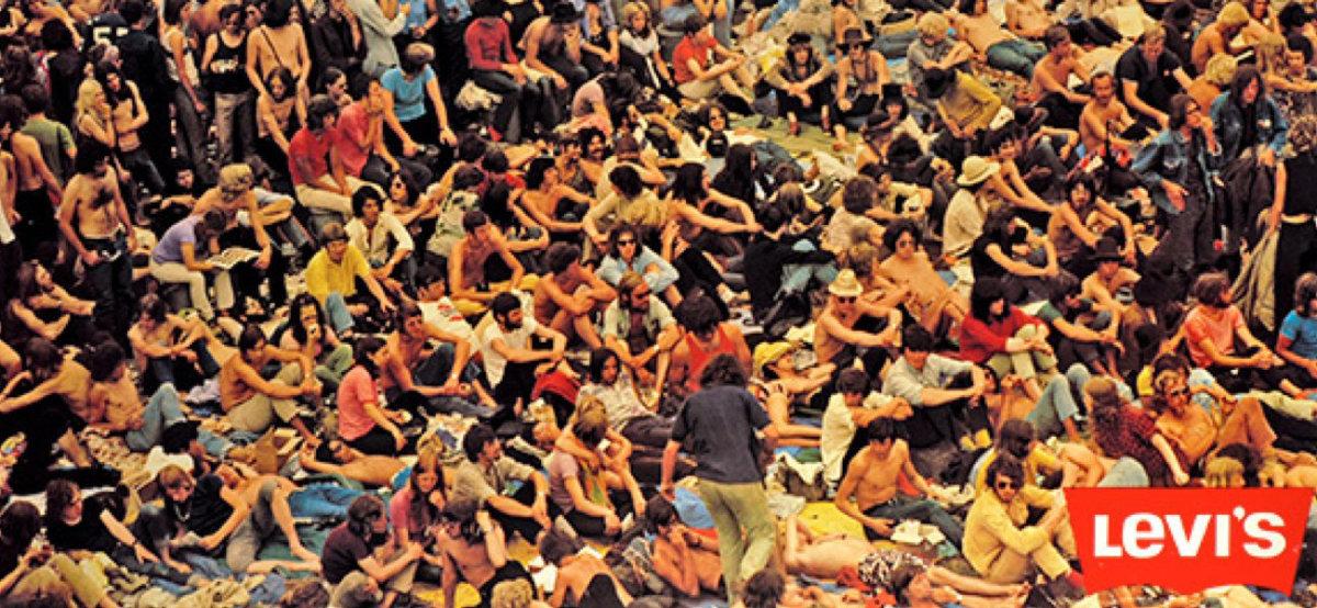 Woodstock Festival, 1969. Image courtesy of Levi's®