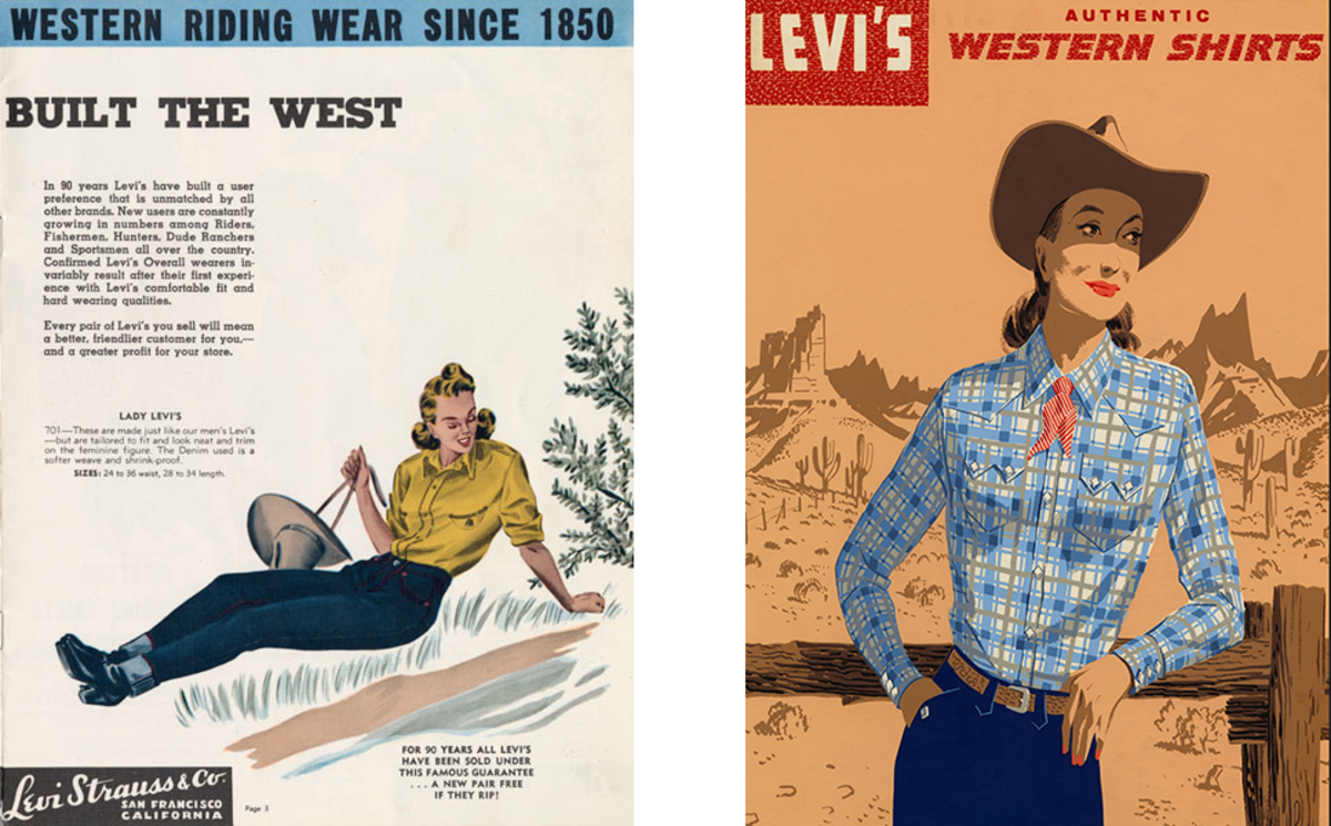 Advertising images from the 1940s,courtesy of Levi's®