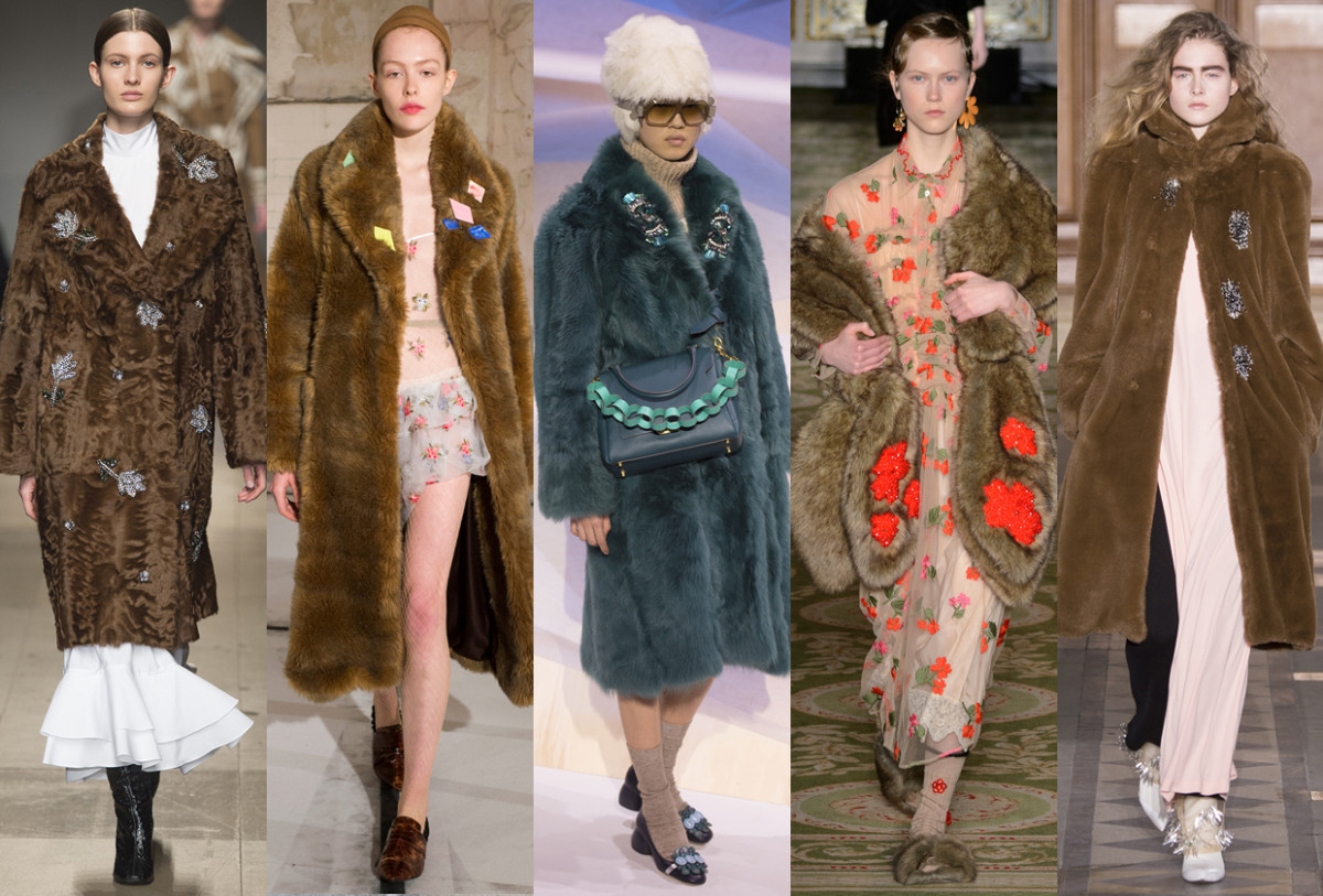 (L-R): Erdem, Isa Arfen, Anya Hindmarch, Simone Rocha, and Toga. Photos: Imaxtree