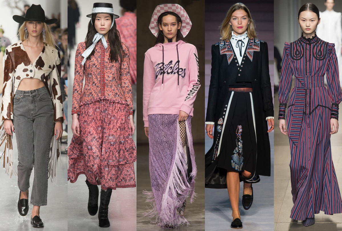 (L-R): Ashley Williams, Bora Aksu, House of Holland, Temperley London, and Erdem. Photos: Imaxtree
