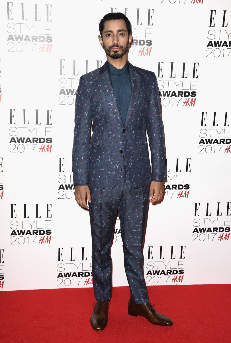 Riz Ahmed in Valentino at the 2017 'Elle' Style Awards in London. Photo:Gareth Cattermole/Getty Images