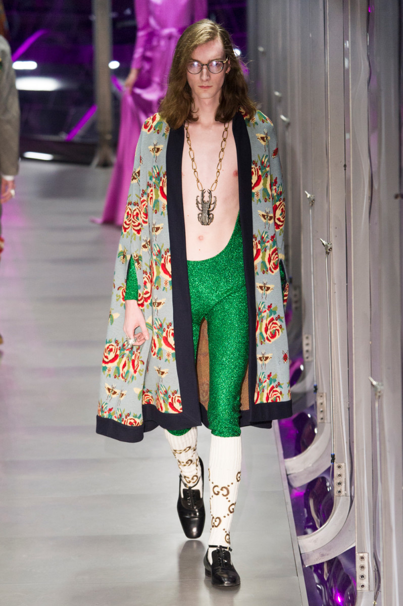 A look from Gucci Fall 2017. Photo: Imaxtree