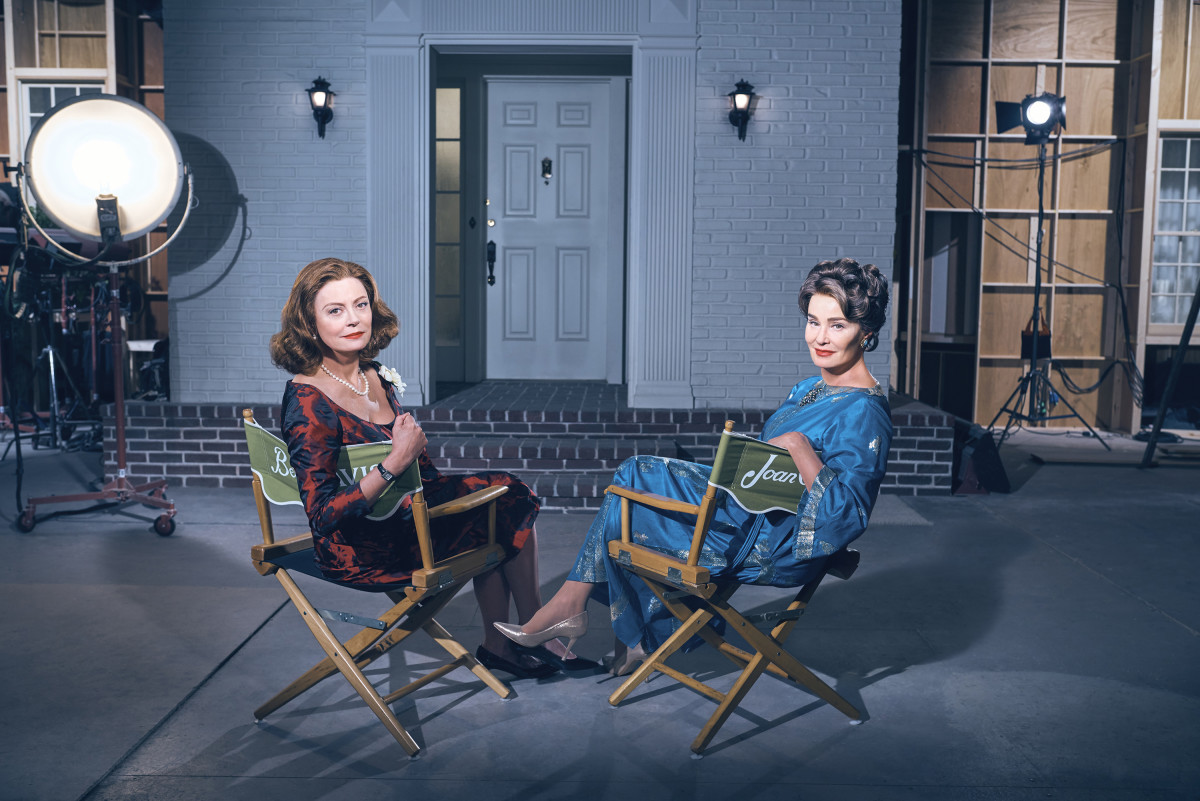Susan Sarandon as Bette Davis and Jessica Lange as Joan Crawford. Photo: Kurt Iswarienko/FX