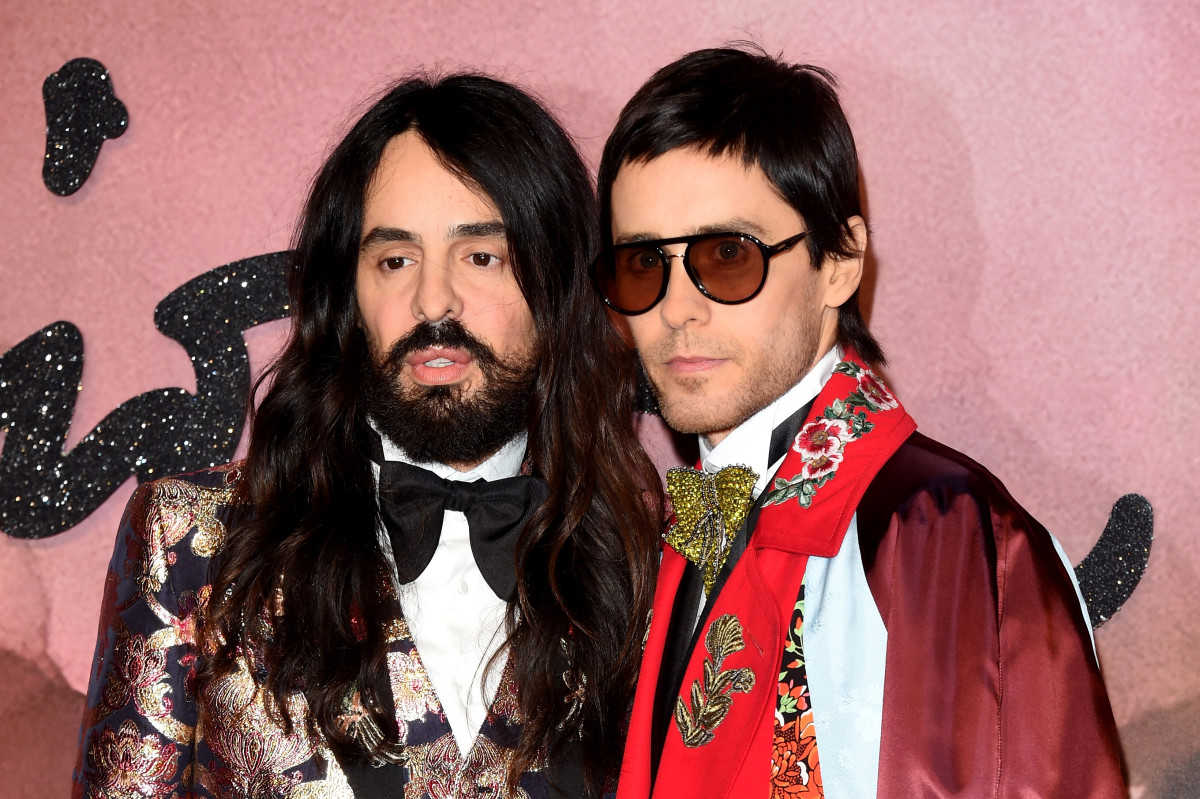 Alessandro Michele and actor Jared Leto at The Fashion Awards 2016 in London, United Kingdom. Photo: Stuart C. Wilson/Getty Images