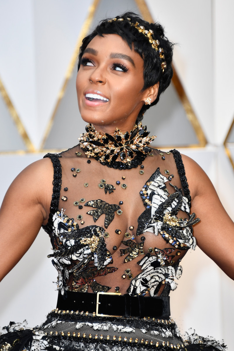 Janelle Monáe on the 2017 Oscars red carpet. Photo: Frazer Harrison/Getty Images