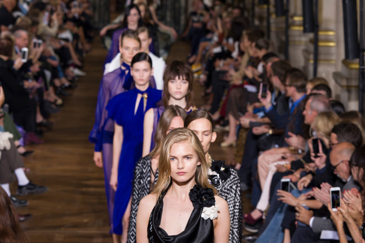 The finale of Lanvin's Spring 2017 runway show. Photo: Imaxtree