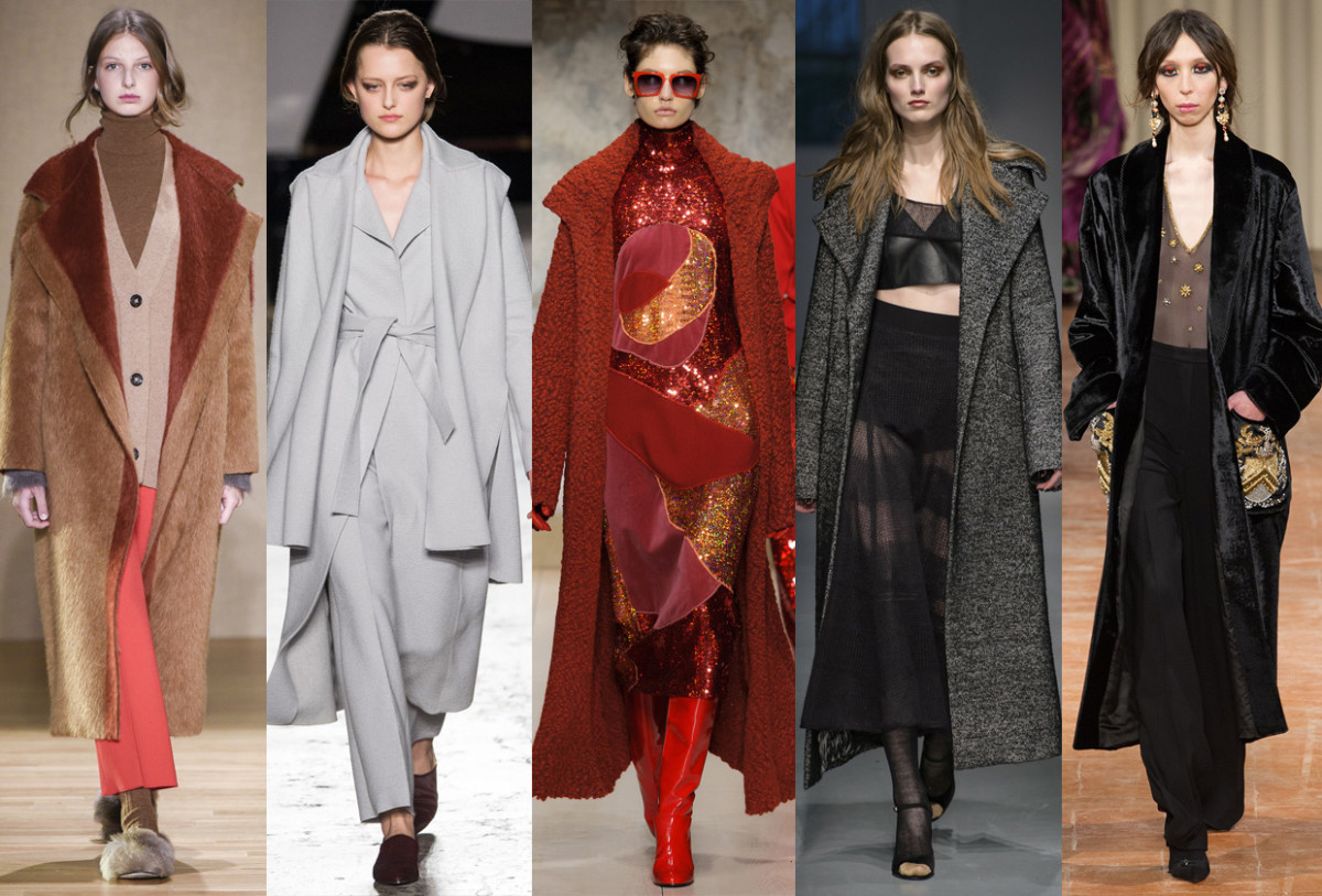 (L-R): Agnona, Calcaterra, Laura Biagiotti, Les Copains and Alberta Ferretti. Photos: Imaxtree